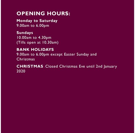 Opening Hours & Map