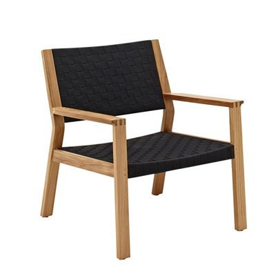 Maze Lounge Chair - Buffed Teak (Noir Strap)