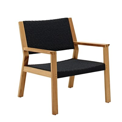 Maze Lounge Chair - Buffed Teak (Flint Rope)