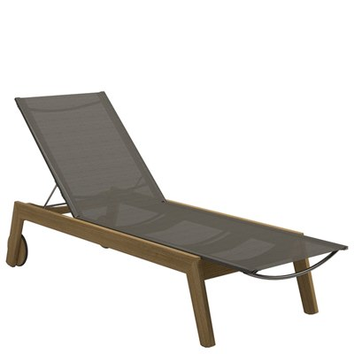 Solana Sling Lounger - Buffed Teak (Granite)