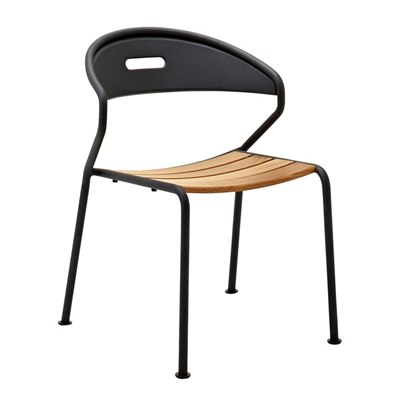 Curve Teak Stacking Chair - Buffed Teak (Meteor)