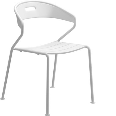 Curve Aluminium Stacking Chair (White)