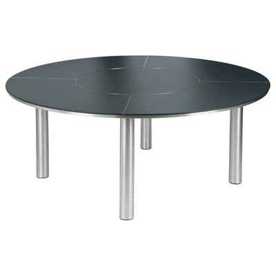 Barlow Tyrie Equinox Dining Table & Lazy Susan 180