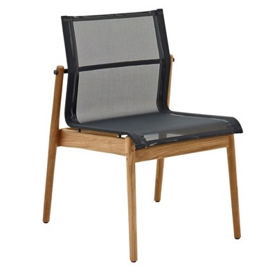 Sway Teak Stacking Chair - Buffed Teak (Meteor / Grey)
