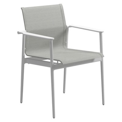 180 Stacking Chair with Arms - Alu Arms (Meteor / Anthracite)
