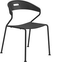 2004M Curve Aluminium Stacking Chair (Meteor)