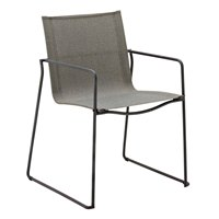 3800MGN Asta Stacking Chair with Arms (Meteor / Granite)