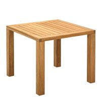 406 Square XL 92cm Square?Table - Natural Teak