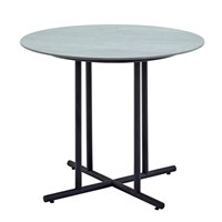 7511M Whirl 90cm Round Dining Table - Pumice Ceramic Top (Meteor)
