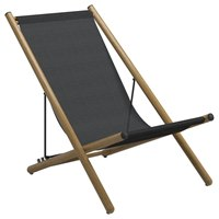 9320ANB Voyager Deck Chair - Buffed Teak (Anthracite)