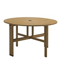 9330MB Voyager Round Gateleg Table - Buffed Teak (Meteor)