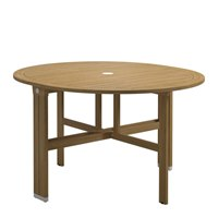 9330WB Voyager Round Gateleg Table - Buffed Teak (White)